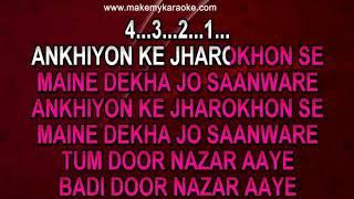 Akhiyon Ke Jharokhon Se Karaoke | Title Track