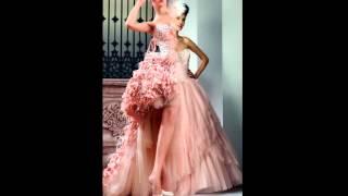 Модные цветные свадебные платья 2018