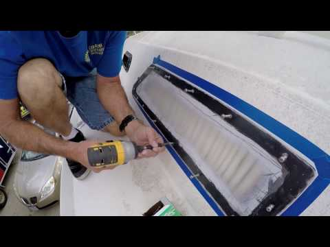How to replace windows in an old sailboat