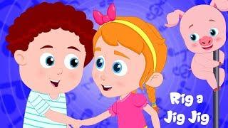 Rig A Jig Jig | Schoolies Cartoons For Kids | Videos For Babies