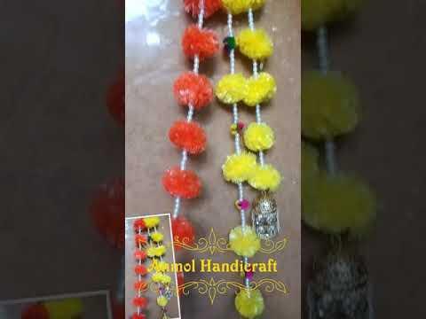 Artificial Marigold Flower Latkan / Maala