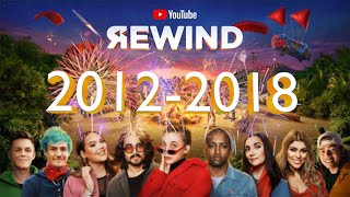 YouTube Rewind Compilation (2012 - 2018) #YouTubeRewind