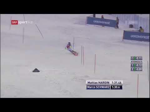 Marco Schwarz 2nd run Men's Slalom - Levi FIS Alpine Skiing World Cup 2017
