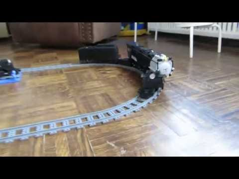 High speed test Lego Bricks' MOC U.P. Big Boy steam locomotive