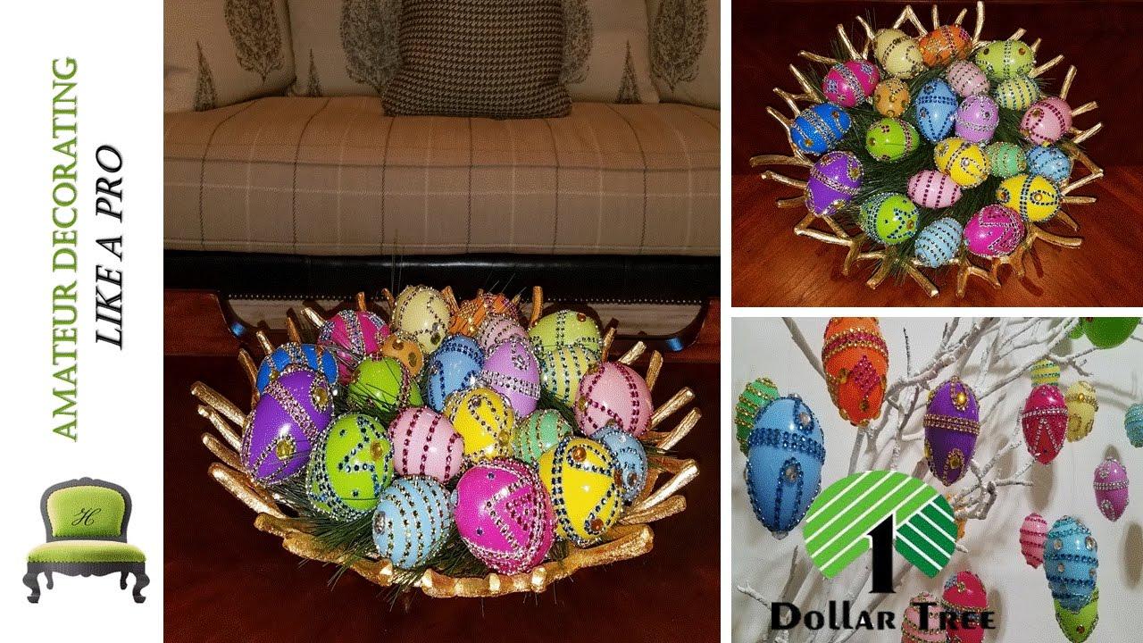 Dollar Tree Pier 1 Inspired Easter Eggs Diy Bling Bling