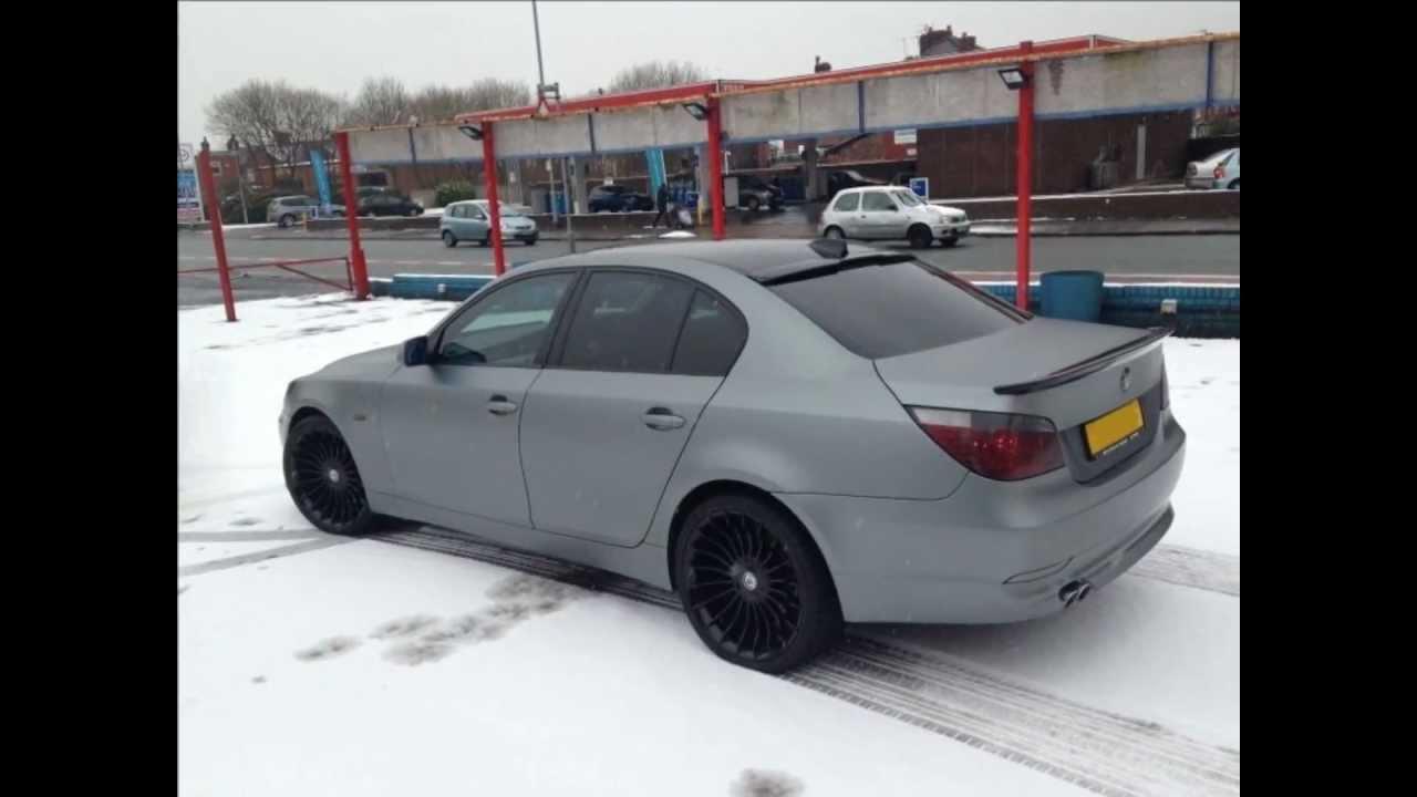 BMW 5 Series Matte Grey Wrap By My Ride UK