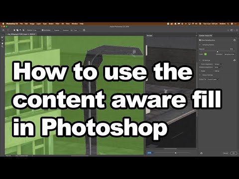 How to use content aware fill in Photoshop tutorial thumbnail