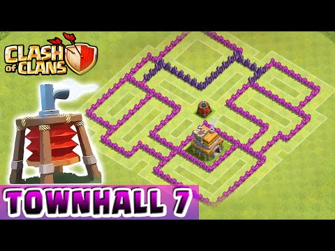 Clash of Clans - AIR SWEEPER DEFENSE STRATEGY - Townhall Level 7 Hybrid (TH7 Defense Strategy)