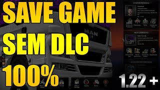 SAVE GAME 100% COMPLETO - EURO TRUCK SIMULATOR 2 - MAPA BASE (SEM DLCS)