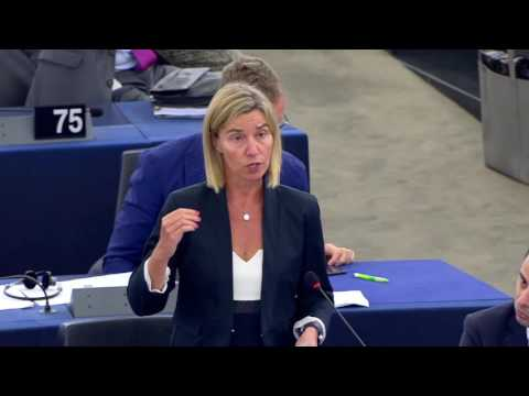 Federica Mogherini debates refugees & migration crisis at the European Parliament Plenary_II