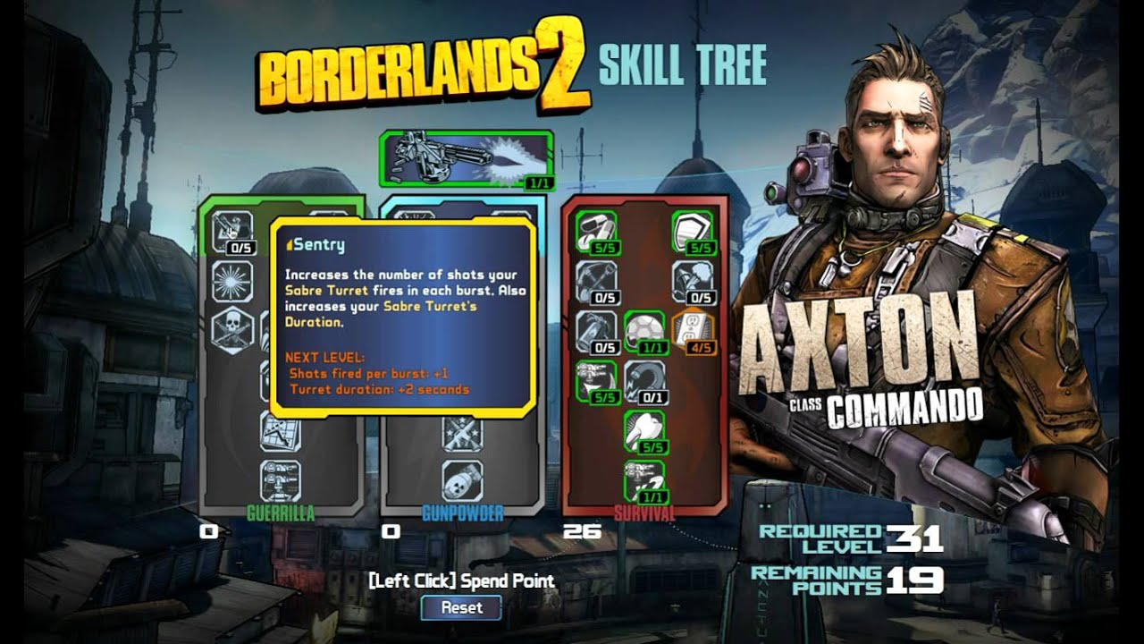 Borderlands  Commando Build Level Skip