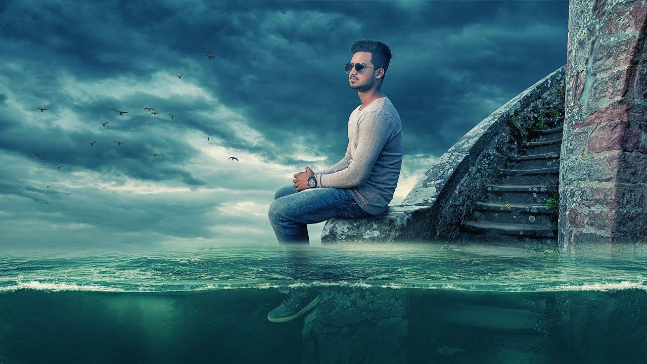photoshop tutorial under water manipulation lonely boy