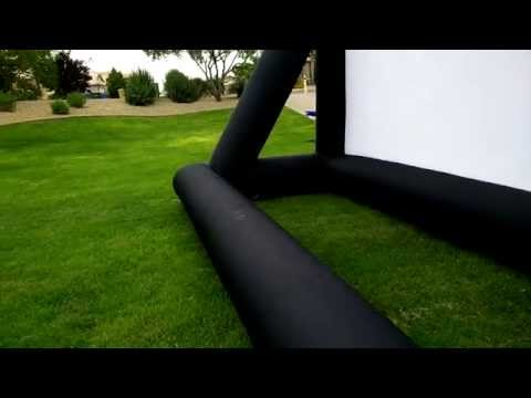 16x9 Inflatable Outdoor Movie Screens by Infl8 Screens