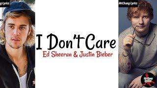 Ed Sheeran & Justin Bieber - I Don't Care (LYRICS/SONGTEXT/DEUTSCHE ÜBERSETZUNG) Video