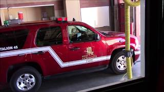 RIDE ALONG - West Sacramento Fire Dept. Truck 45 Responding To Vehicle Accidents + On Scene