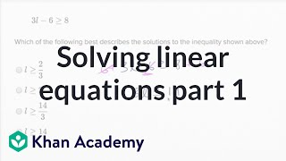 Solving linear equations — Basic example | Math | New SAT | Khan Academy