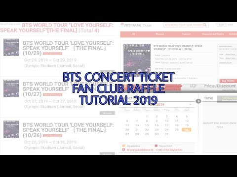How to buy BTS Concert Ticket 2019 - Fanclub Raffle Ticket
