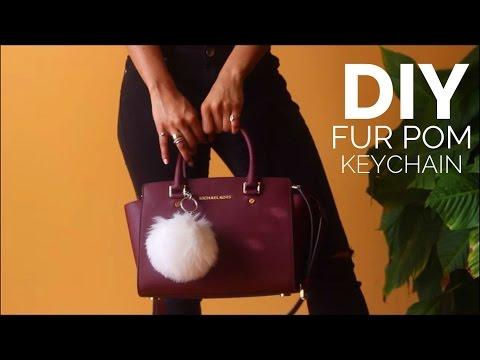 DIY Fur Pom Keychain