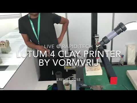 0 - VormVrij präsentiert Ton 3D-Drucker LUTUM v4