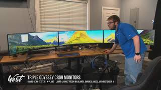 LIVE: Spanning 3 Samsung Odyssey CRG90 1440P Monitors