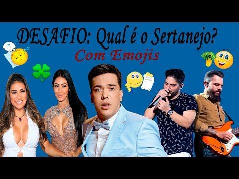 DESAFIO: Qual é o Sertanejo? Com Emojis  Wesley Safadão Simone e Simaria Jorge e Mateus