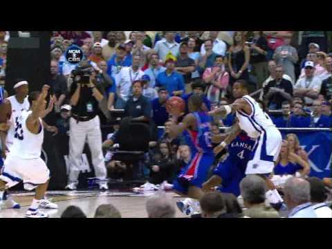 Mario Chalmers Game-Tying 3-pt shot 2008 NCAA finals KU-Memphis