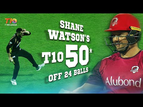 Shane Watson's dramatic T10 Fifty & a special performance by Wayne Parnell!!!