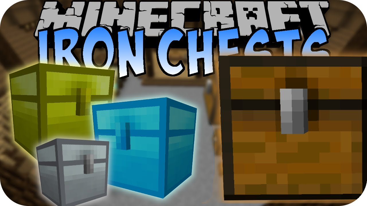 Minecraft IRON CHESTS (vs. Colossal Chests) [Mod Battle ...
