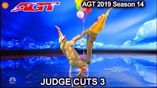 Edson & Leon 54 and 84 yo balancing duo UNBELIEVABLE | America's Got Talent 2019 Judge Cuts