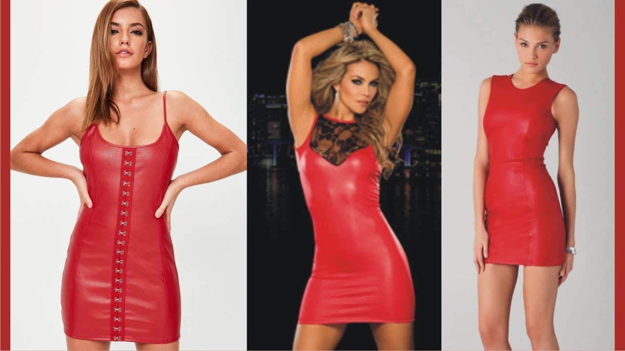 1cabab0aa81 Fancy Red Leather Mini Dress - YouTube