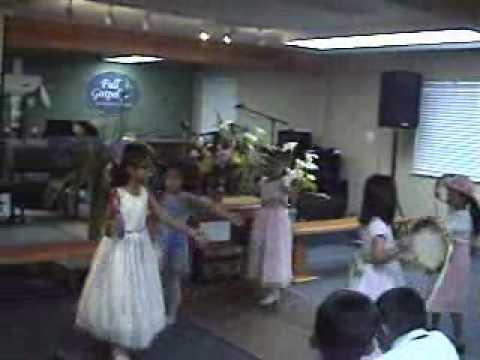 9bde242e4390 Easter 2009 - Children's Church Tambourine Dance - YouTube