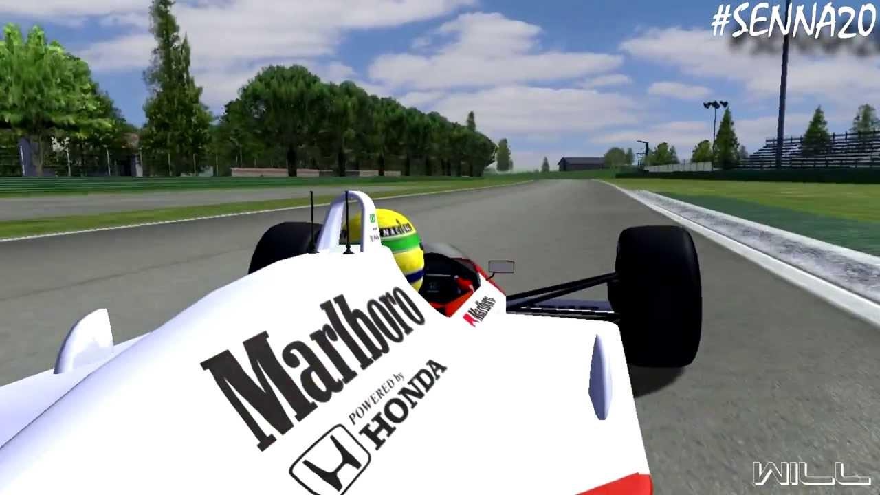 rfactor honda marlboro mclaren mp4 4 imola with ayrton senna mod f1 1988 by carrera 4 hd