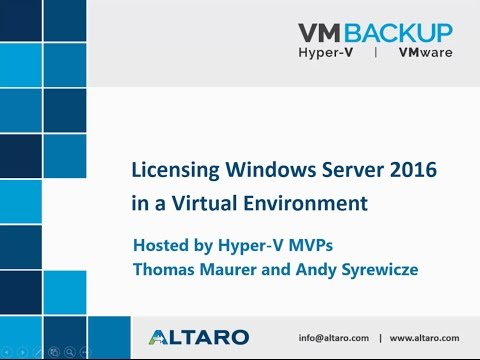 Demystifying Windows Server 2016 Licensing Webinar