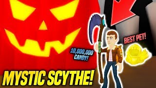 GETTING THE MYSTIC SCYTHE IN PUMPKIN CARVING SIMULATOR!! *GODLY* (Roblox)