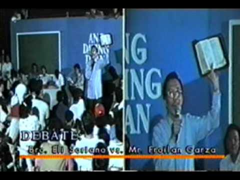 Bro. Eli Soriano debate with Garza - 5  Which is the true church?