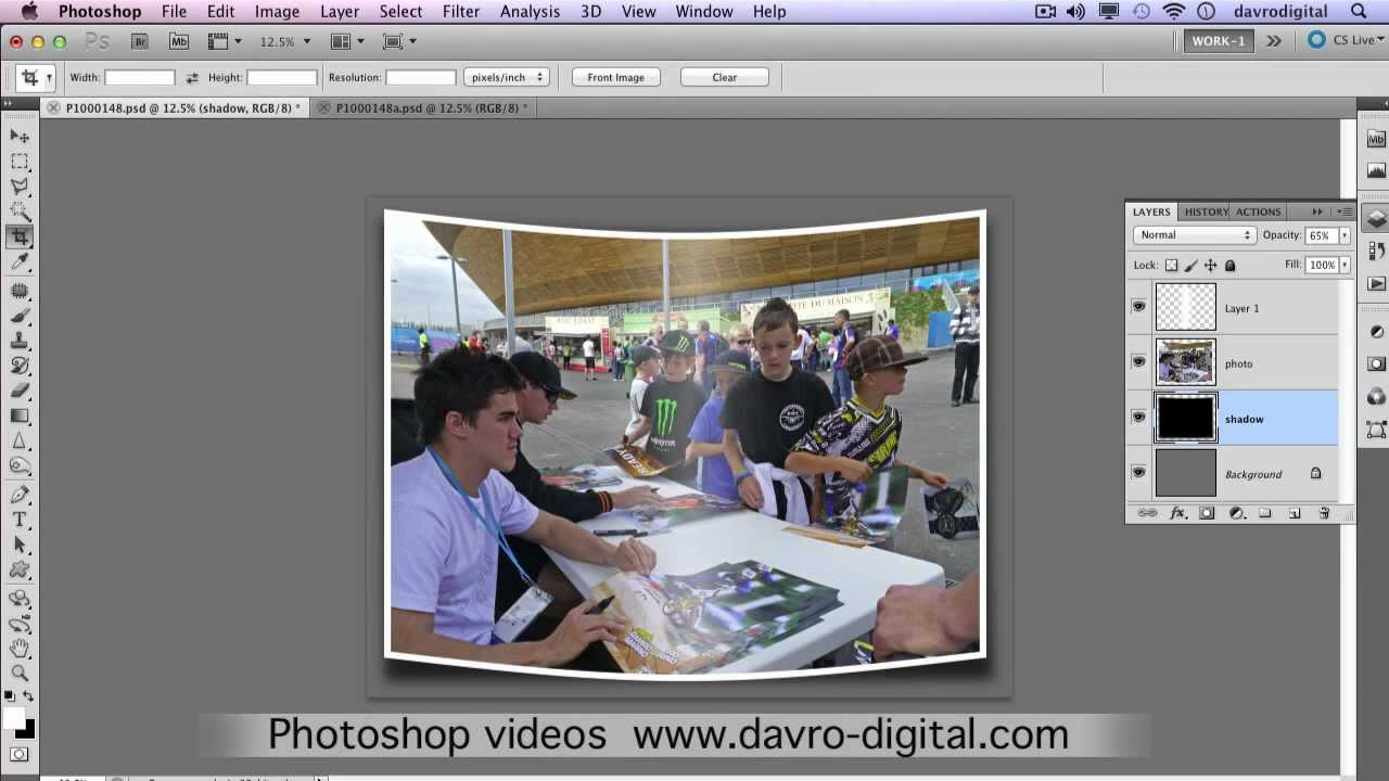 Bending A Photograph In Photoshop Youtube