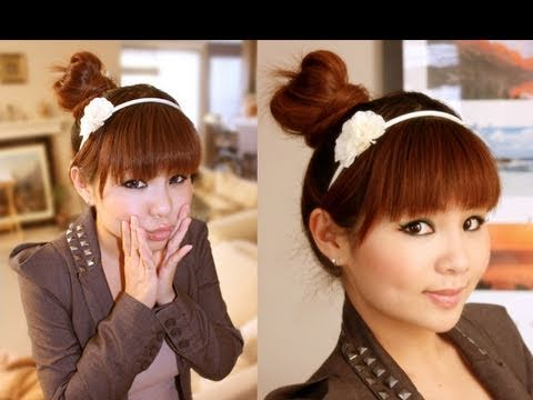 Easy Japanese Hair Bun Tutorial - YouTube