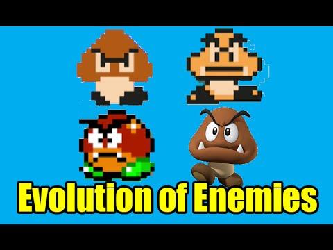 Evolution Of Enemies In The Mario Series And Graphics Comparison (Super Mario Maker)