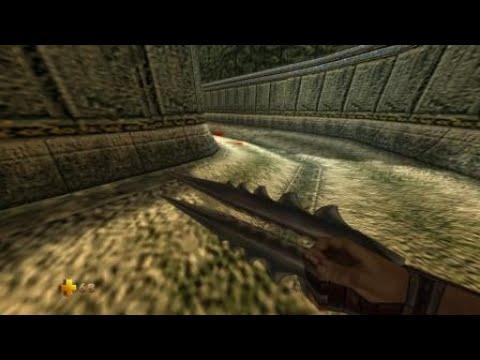 Turok 2: Seeds of Evil Blasting Dinosaurs |