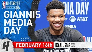Giannis Antetokounmpo Full Interview | February 16, 2019 NBA All Star Media Day
