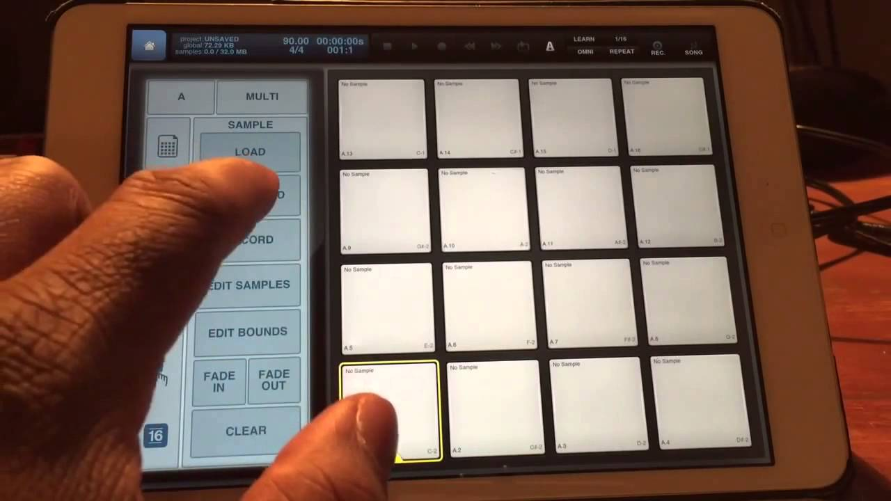 Using Beatmaker 2 to Run and Create Click Tracks on your iPad!