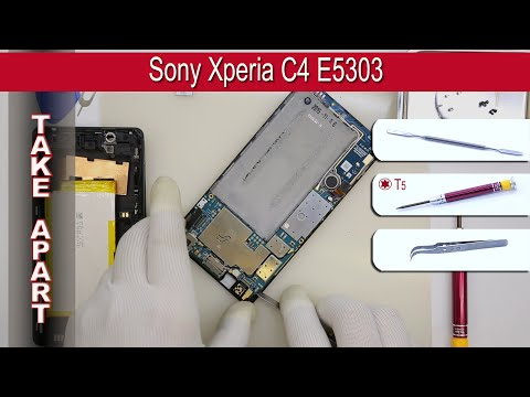 How to disassemble 📱 Sony Xperia C4 E5303, E5306, E5353 Take apart Tutorial