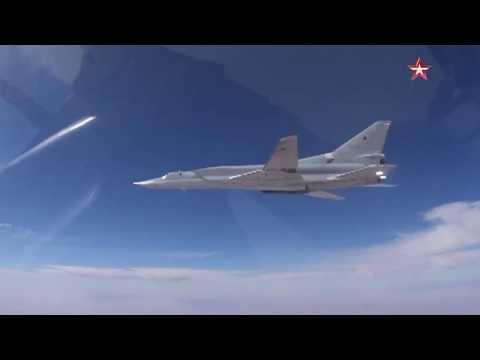 Кадры бомбардировки самолетами