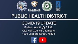 Public Health Department Covid Update July 31, 2020
