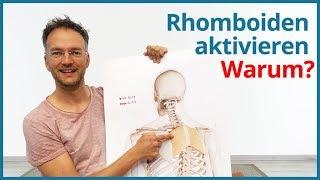 Rhomboiden richtig aktivieren ✅  Rücken Yoga-Übungen inkl. Yoga Anatomie