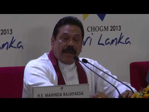"Commonwealth summit: Sri Lanka president ""you must respect"""