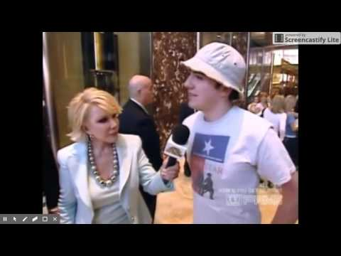 President Donald Trump with Joan Rivers - How'd You Get So Rich? 2010 Part Two