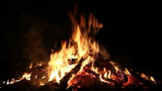 Relaxing Campfire with Crackling Fire Sounds (Full HD)