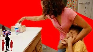 Mother Shoves Soap In Kid