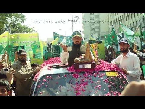 Champion Sahibzada Sultan's Reception At Karachi press club